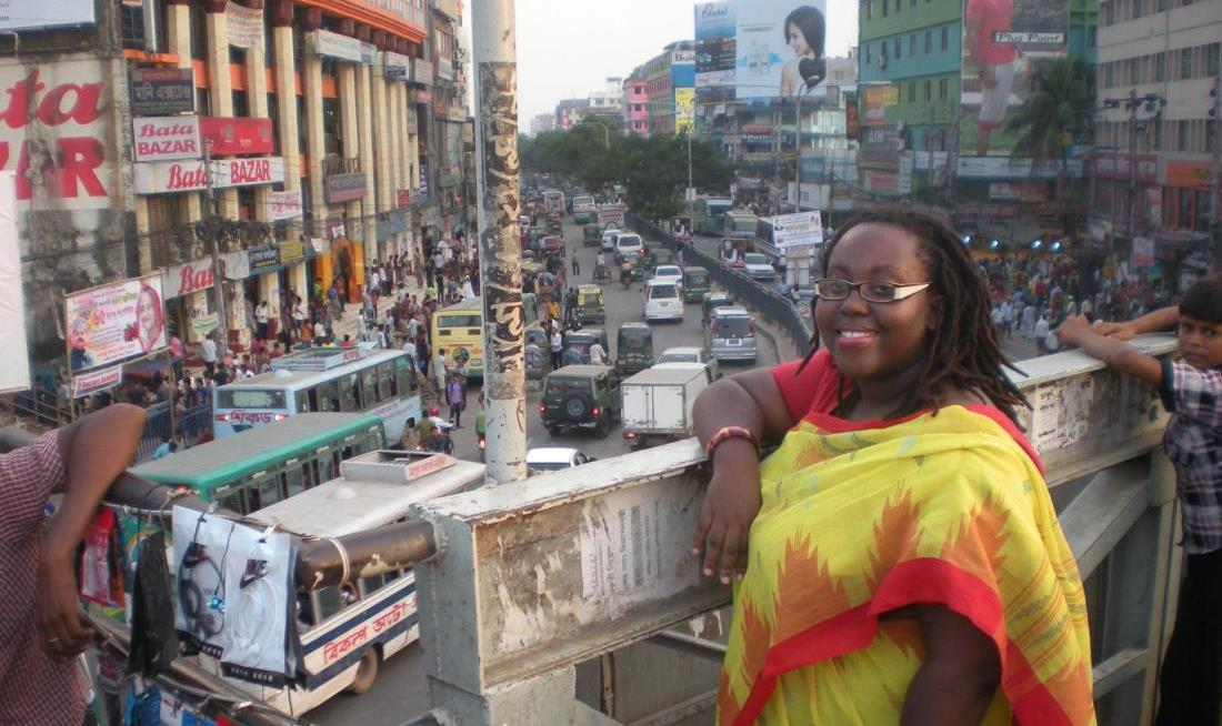 Photo: Jodi-Kaye Wade in Bangladesh